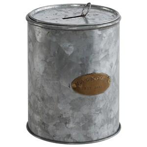 Tin Magnolia Petite Coin Canwith Aged Zinc Finish