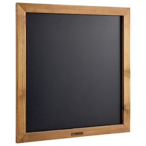 Large Square Schoolhouse Blackboard with Natural Frame