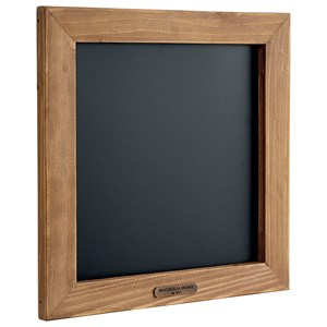 Small Square Schoolhouse Blackboard with Natural Frame