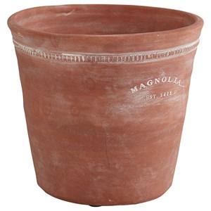 Round Medium Terra Cotta Origin Pot with Rope Trim