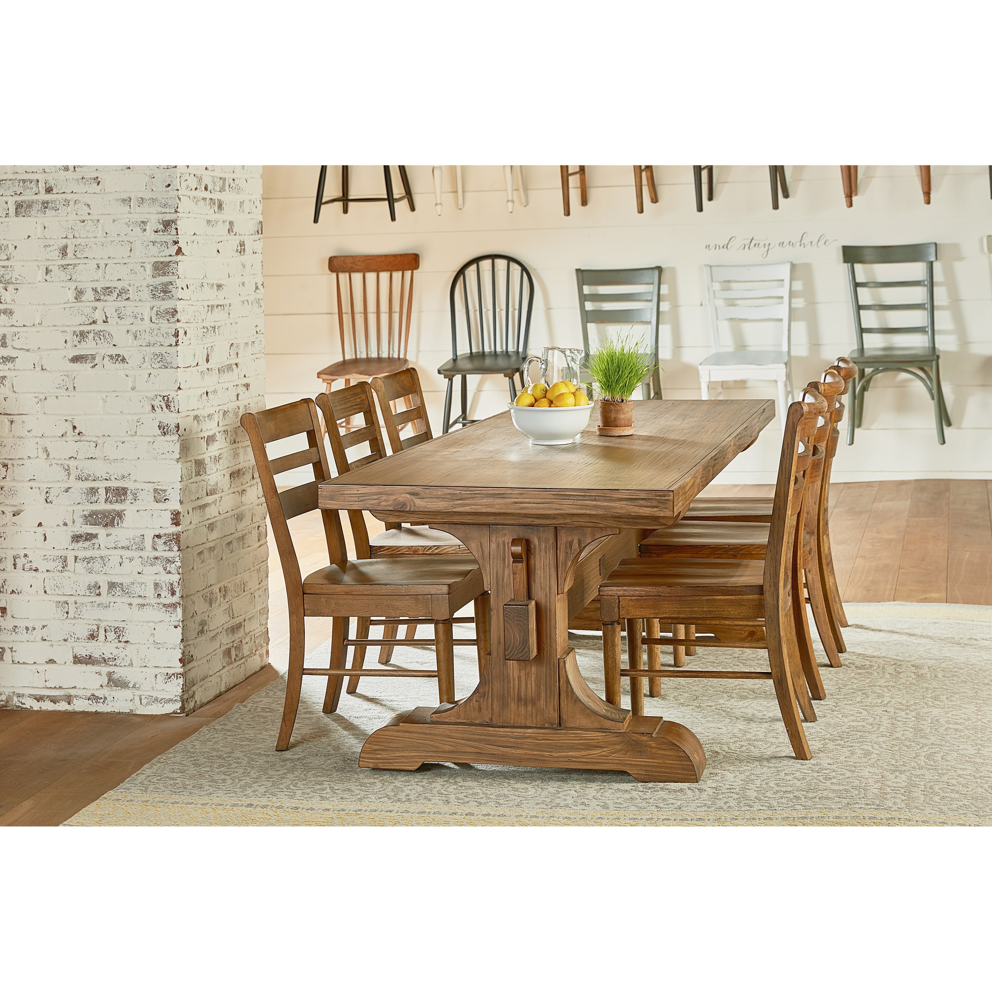 Keyed Trestle Dining Table By Magnolia Home Joanna Gaines