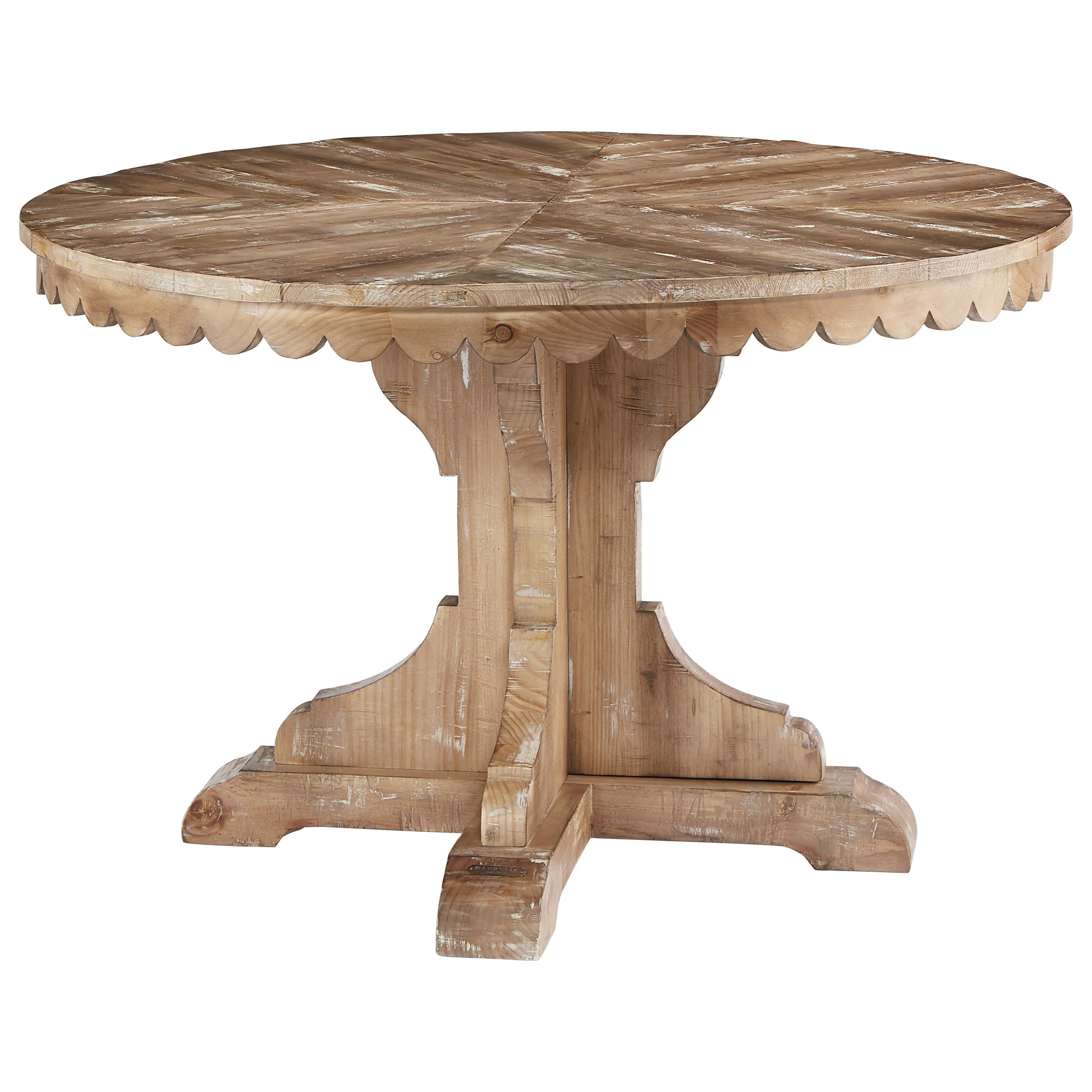 Round Pedestal Table with Scalloped Apron by Magnolia Home by Joanna