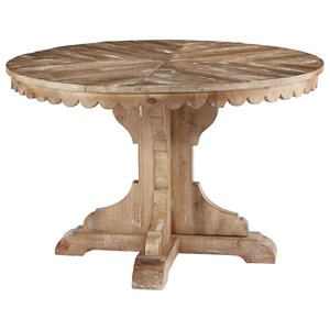 Round Pedestal Table with Scalloped Apron
