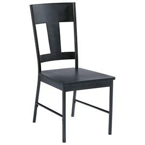 Metal Side Chair with Carbon Finish
