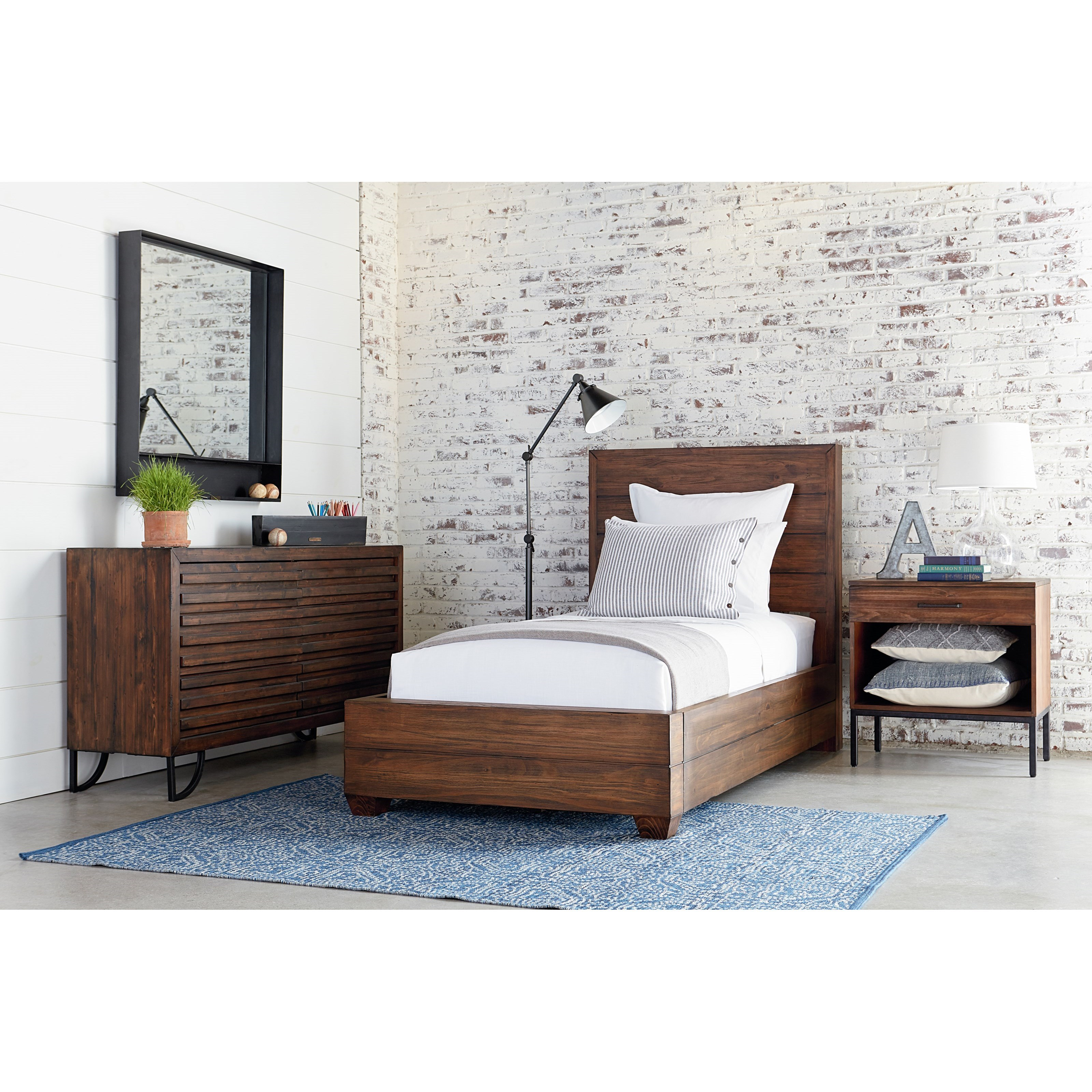 Industrial Twin Headboard And Footboard Bed By Magnolia Home By Joanna Gaines Wolf And