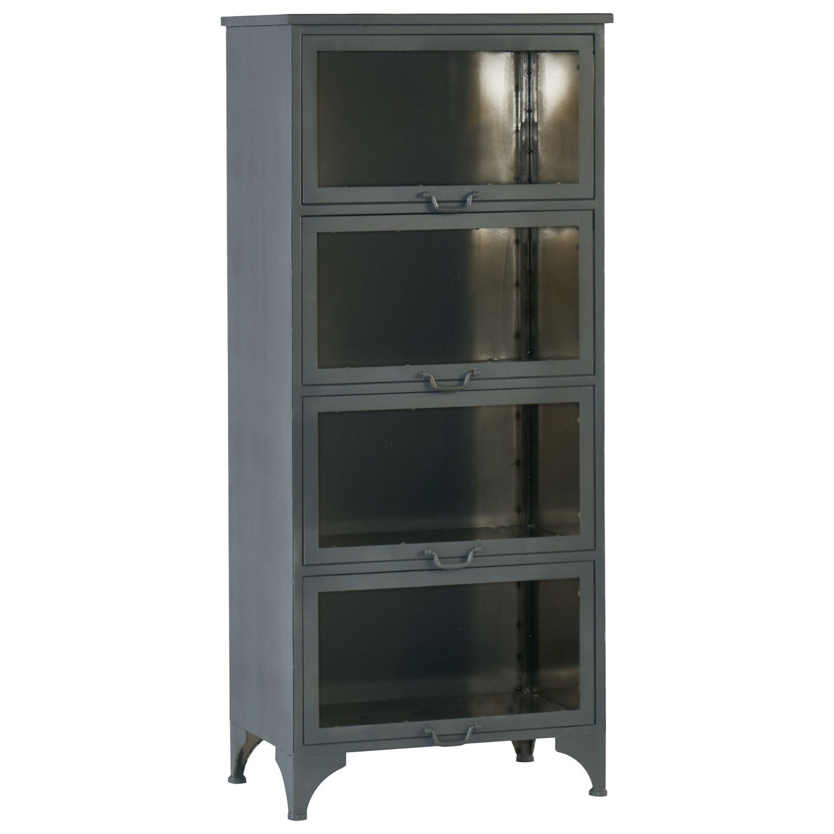 Case Metal Cabinet With Glass Doors