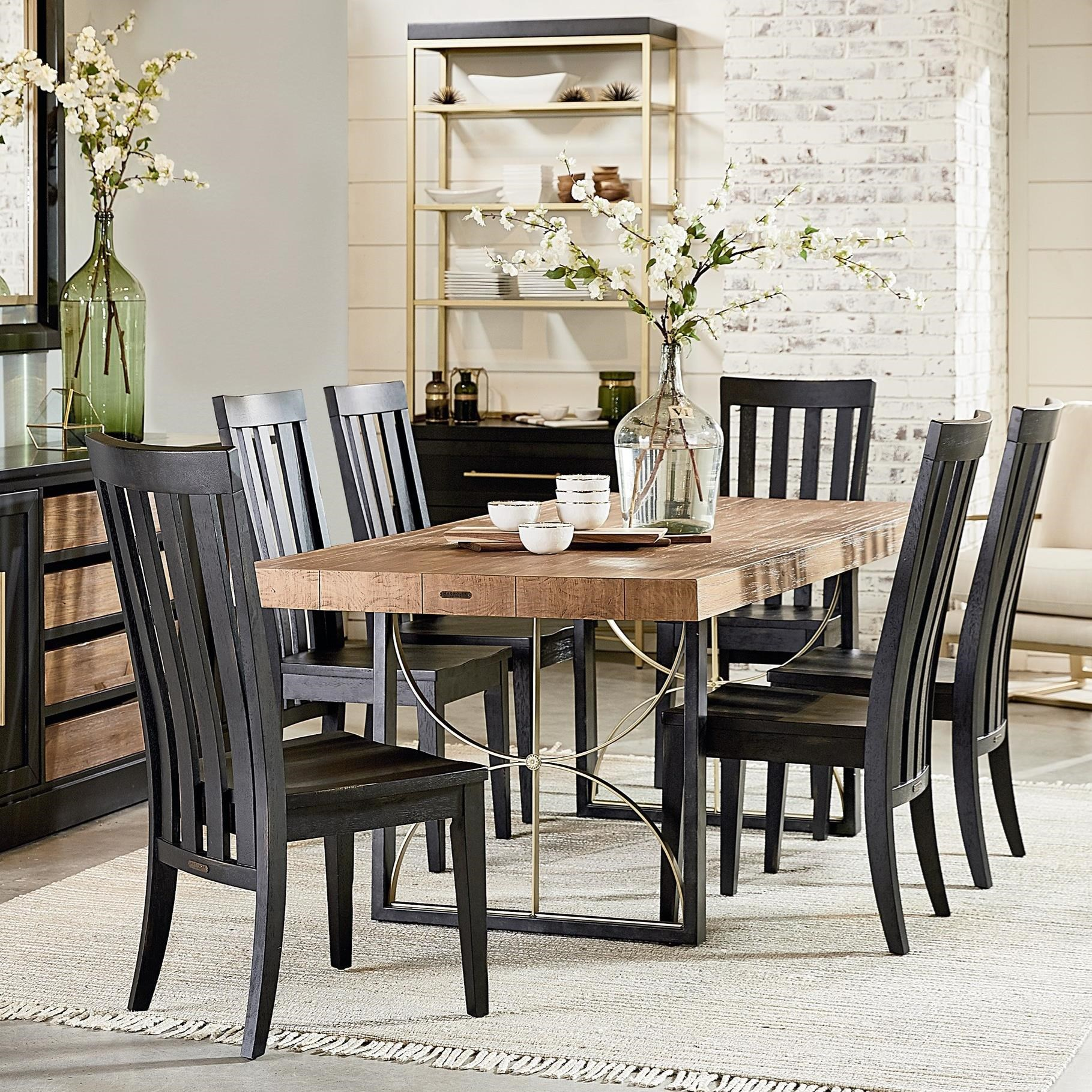6 39 Contemporary Table Chair Set By Magnolia Home By Joanna Gaines Wolf And Gardiner Wolf