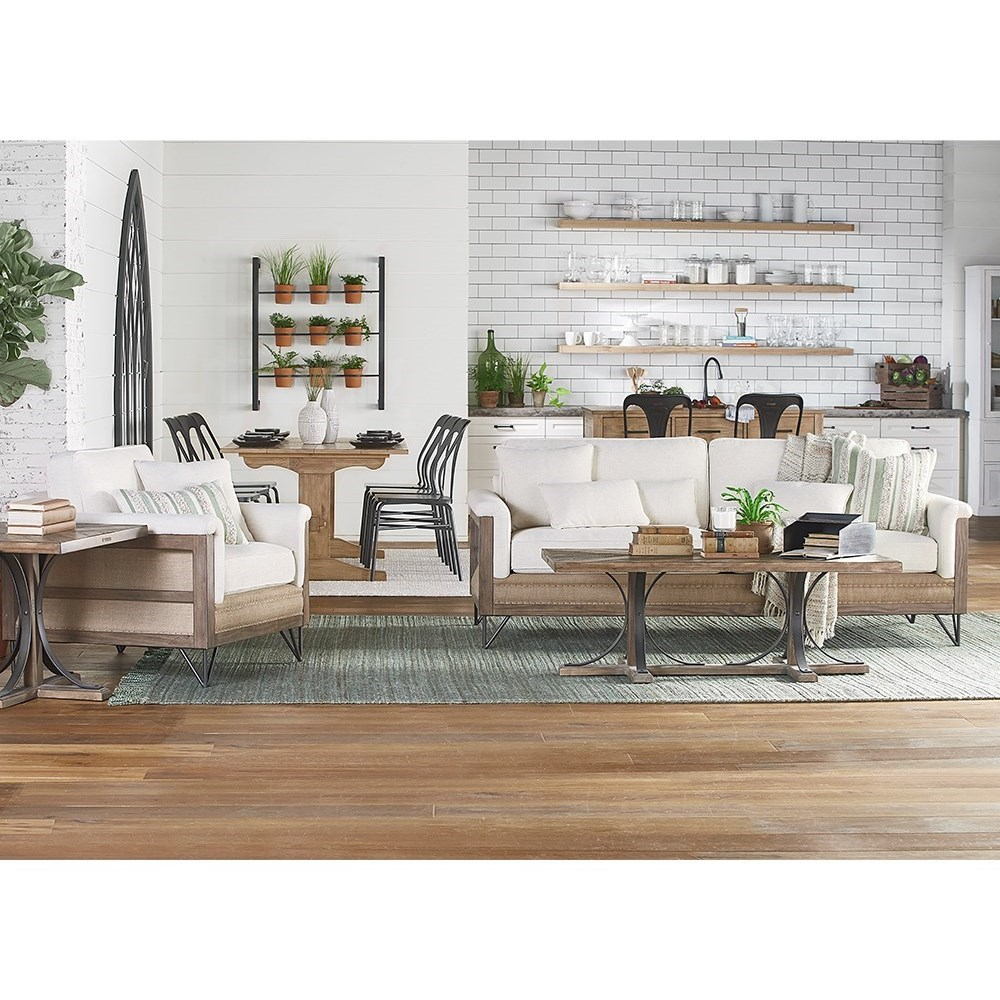 Paradigm Sofa With Exposed Wood Frame