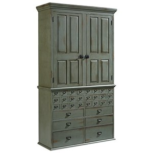 File Cabinet Armoire with Patina Finish