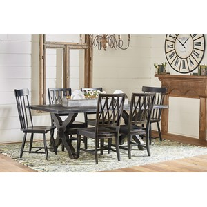 Sawbuck Dining Table Set