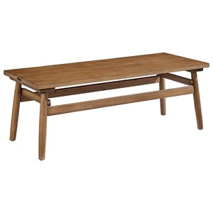 Strut Coffee Table with Bench Finish