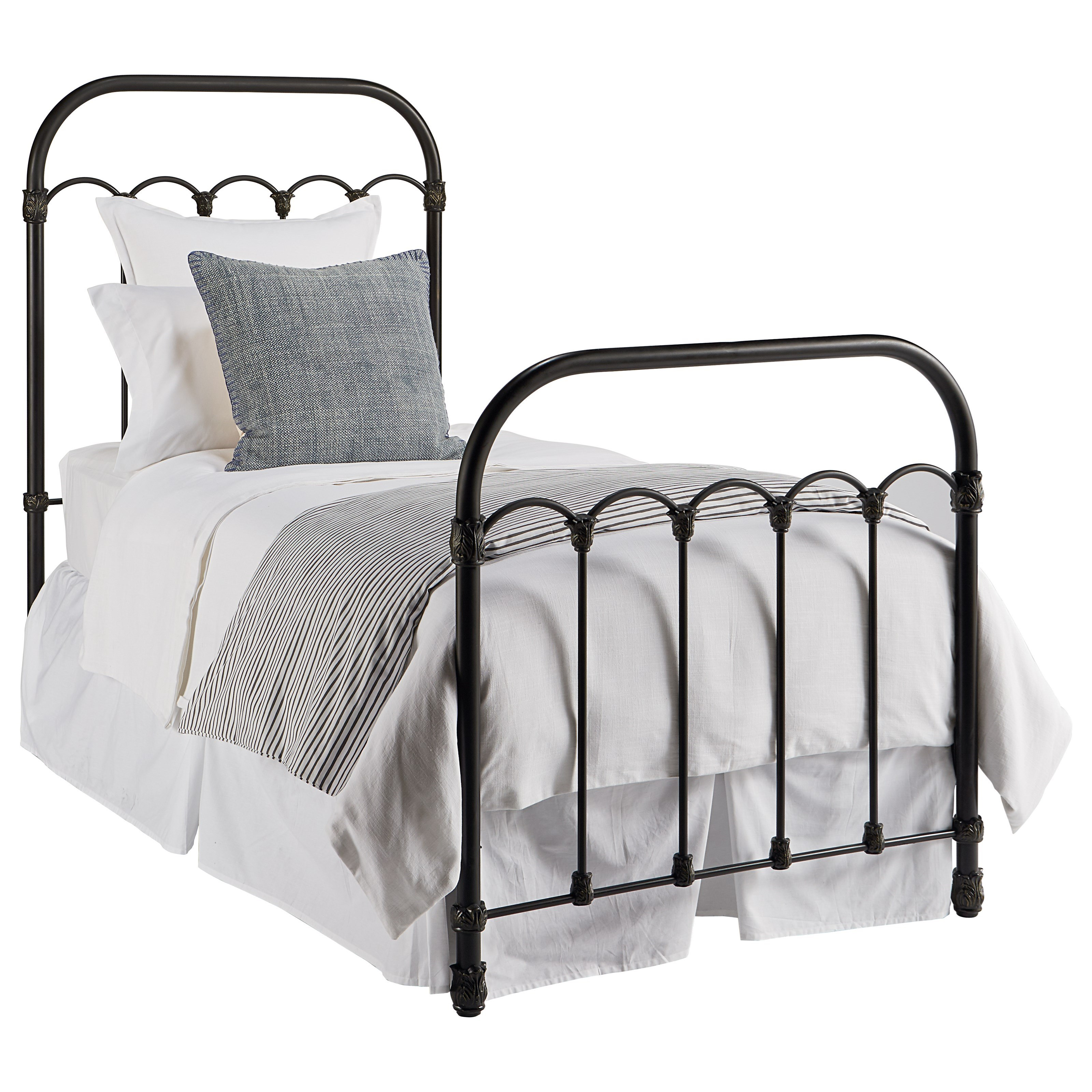 Colonnade Twin Metal Bed by Magnolia Home by Joanna Gaines