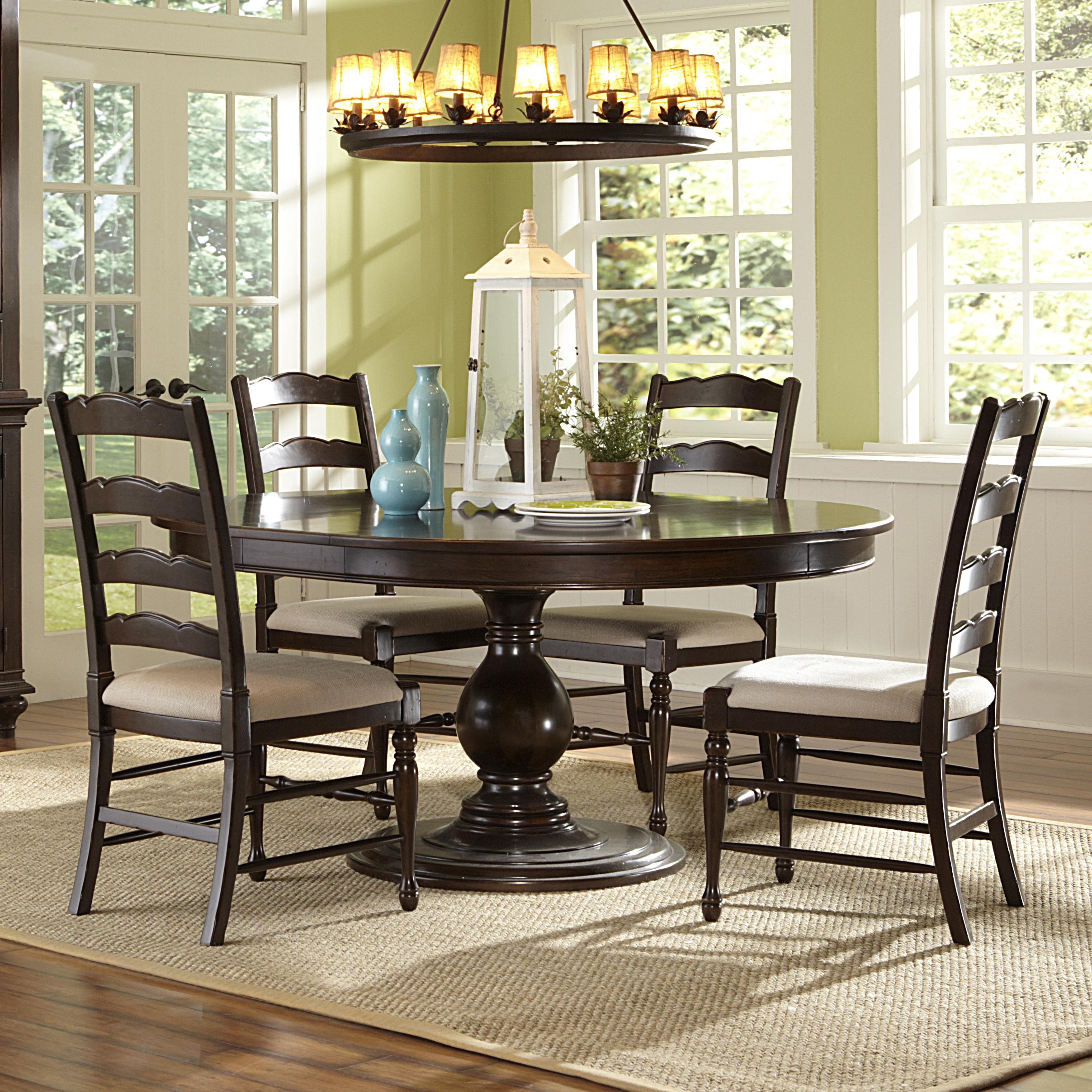 5 piece round table and chairs set - Magnussen Dining Room Furniture