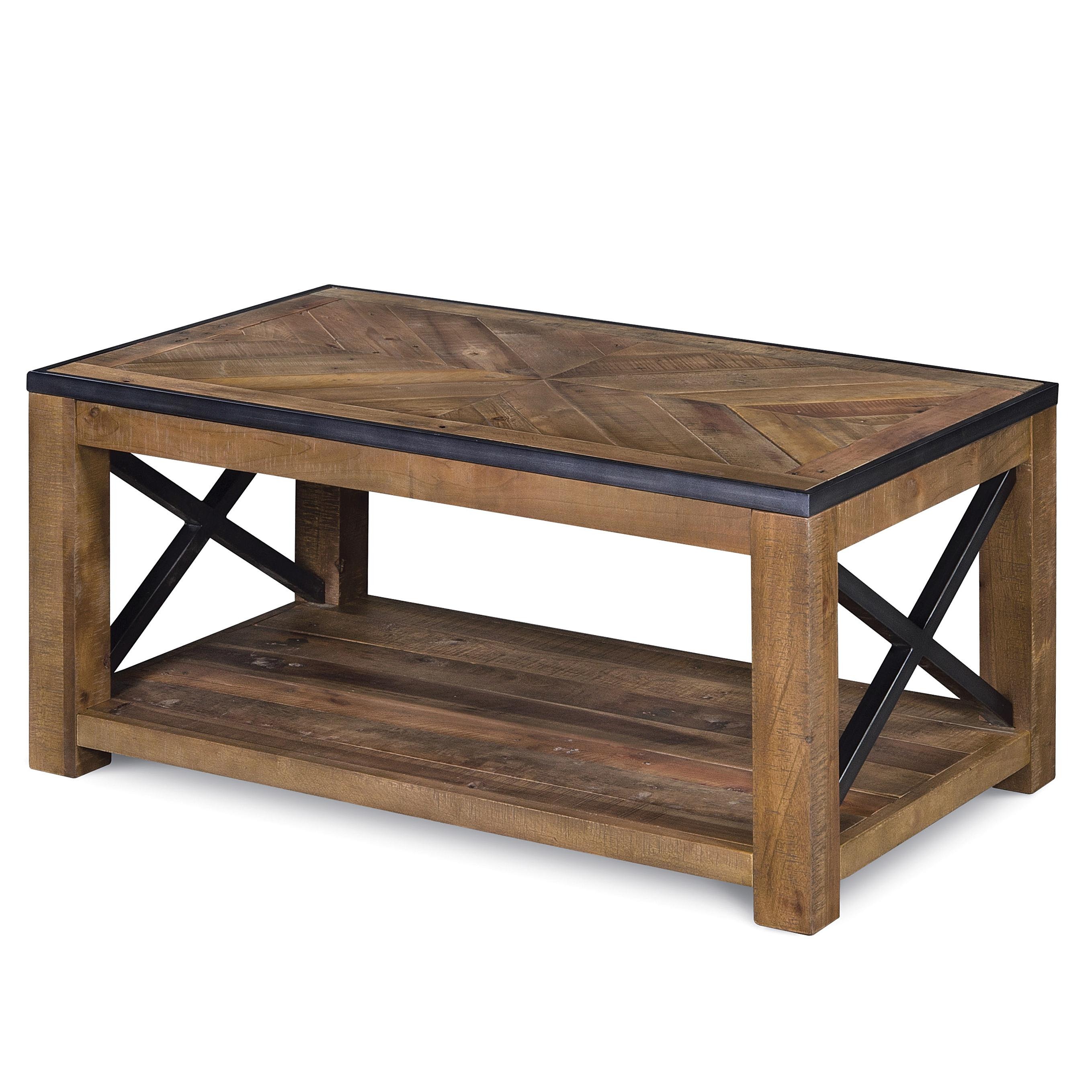 Small Rectangular Cocktail Table with Casters