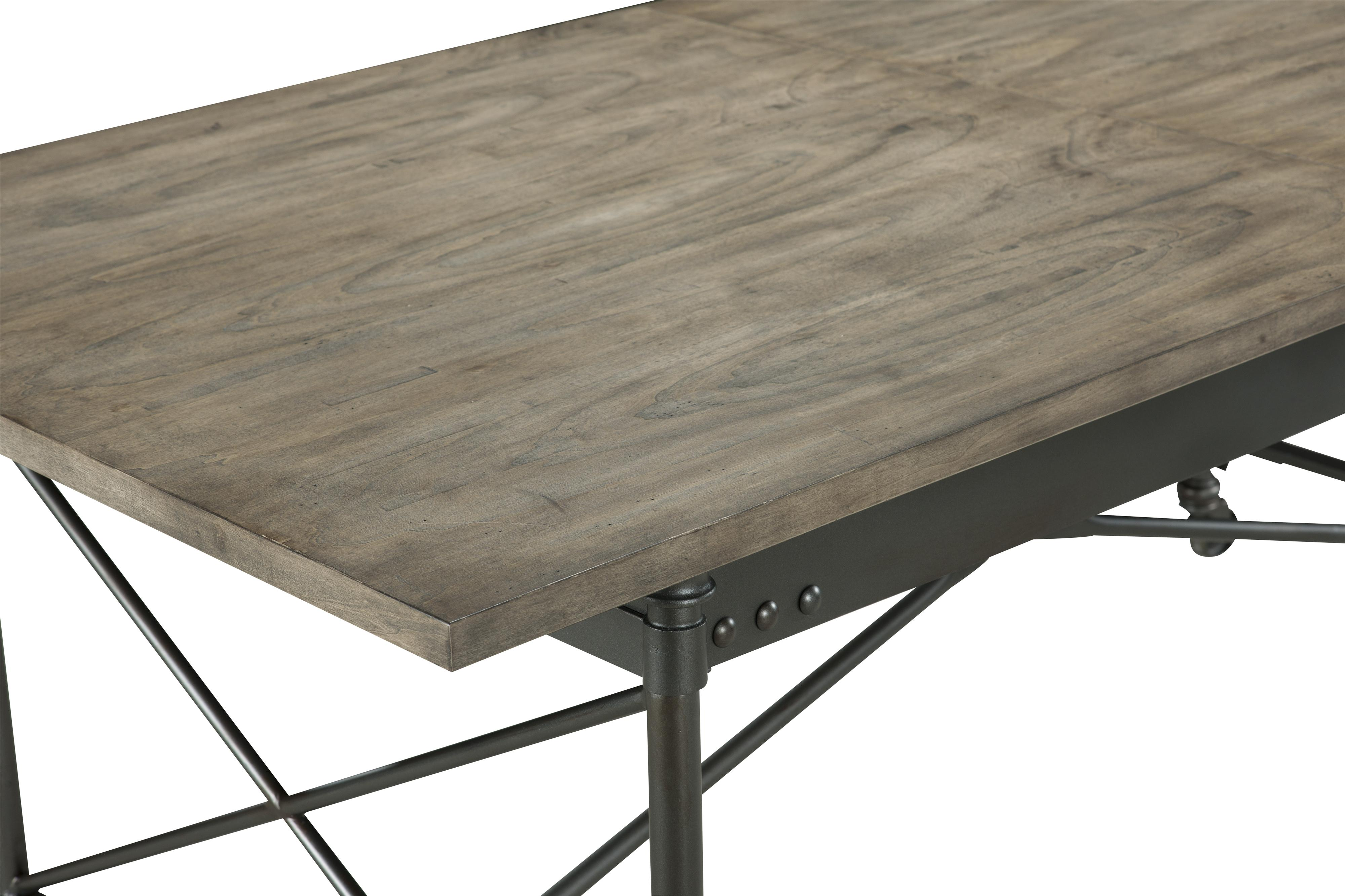 rustic dining table with casters and extension leaf by magnussen home - Magnussen Dining Room Furniture