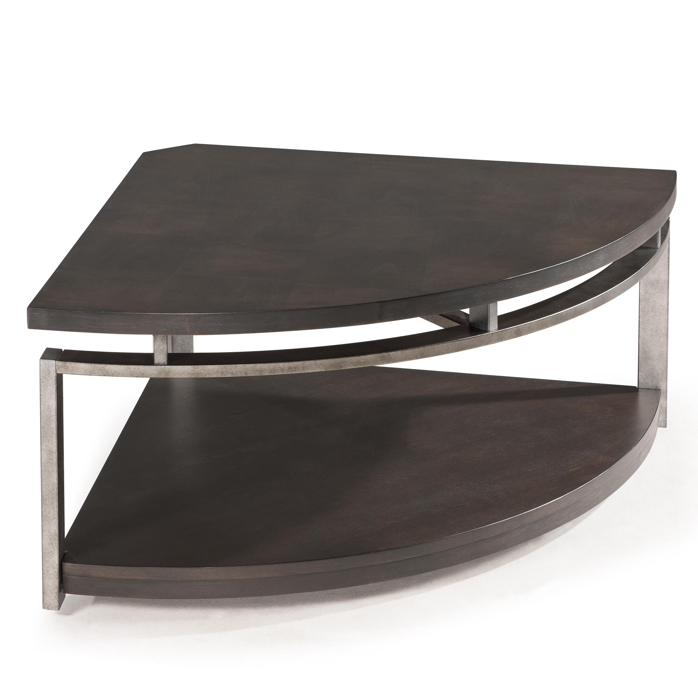 Contemporary Pie shaped Cocktail Table with Casters by Magnussen