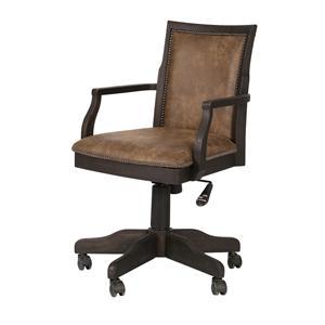 Magnussen Home Barnhardt Upholstered Desk Chair (w/casters)