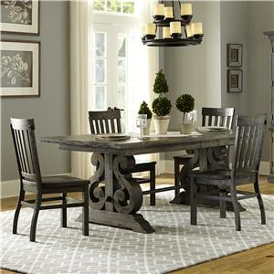 Magnussen Home Turnin Turnin Table + 4 Chairs Set