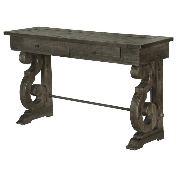 Rectangular Sofa Table with Two Drawers