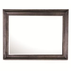 Rectangular Landscape Mirror with Wooden Frame