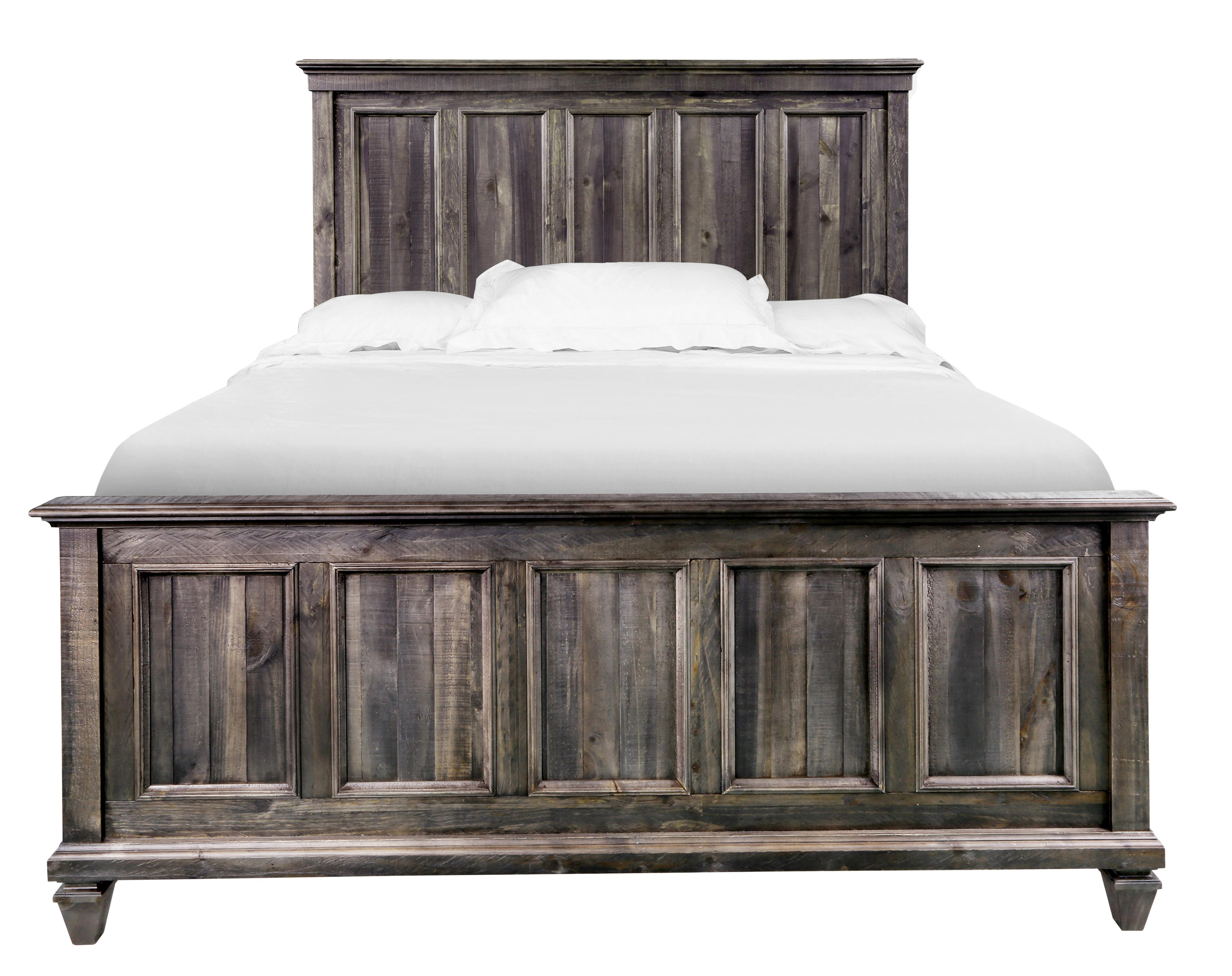 King Panel Bed with Headboard and Footboard