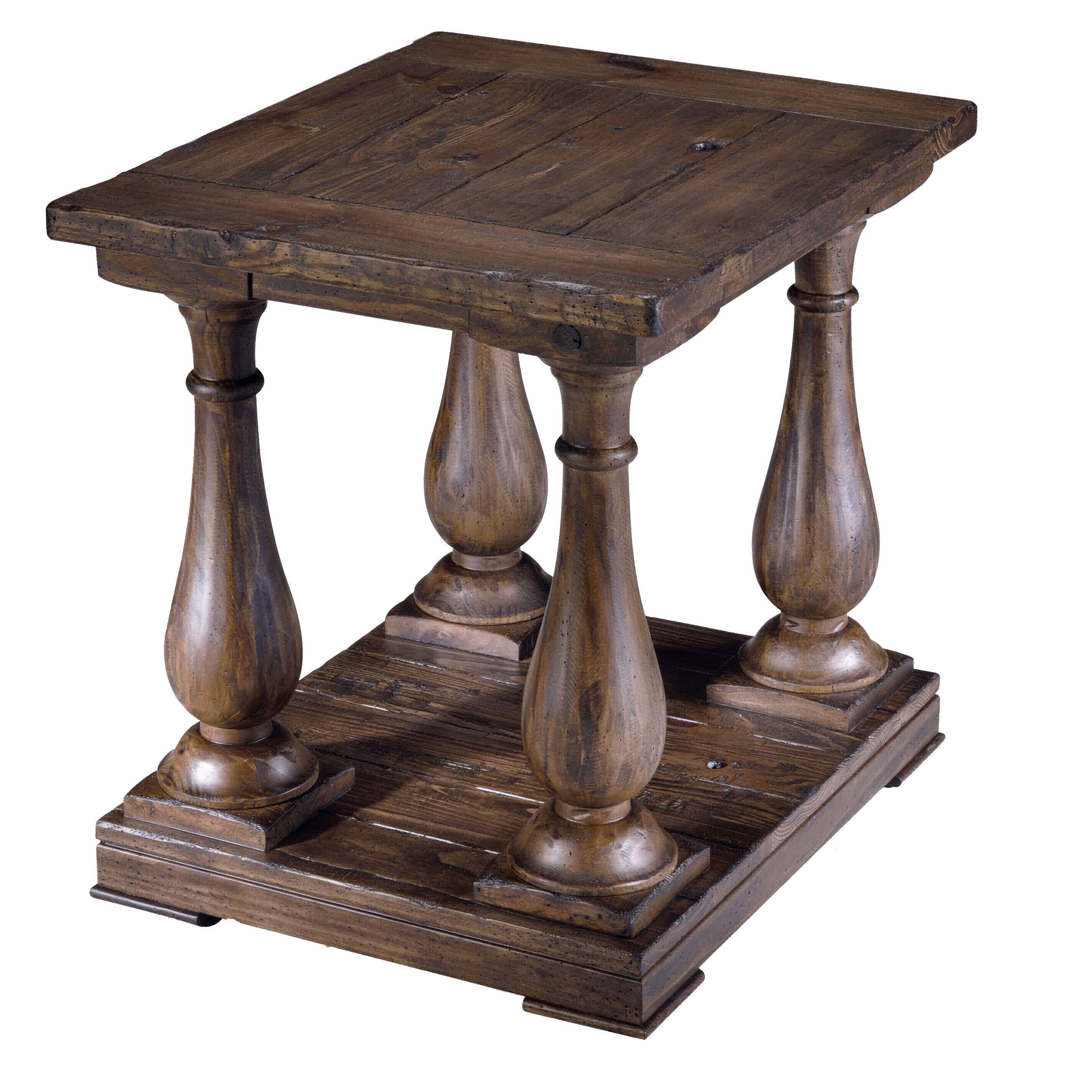 Rectangular Column End Table