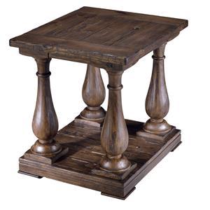 Rectangular Column End Table