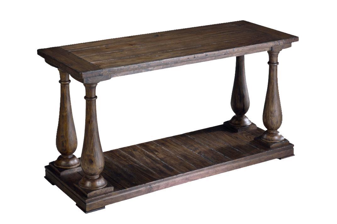 Rectangular Column Sofa Table
