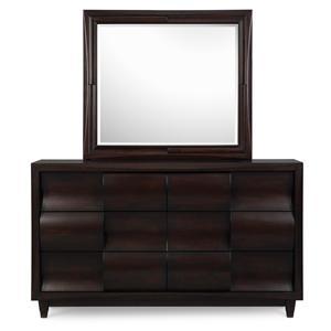 Magnussen Home Fuqua Dresser with Mirror Combination