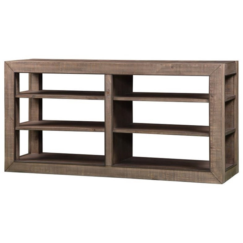 Industrial Sofa Table with Adjustable Shelves