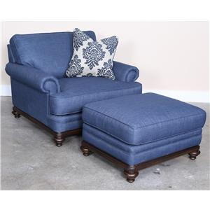 Magnussen Home Grant Chair and Ottoman
