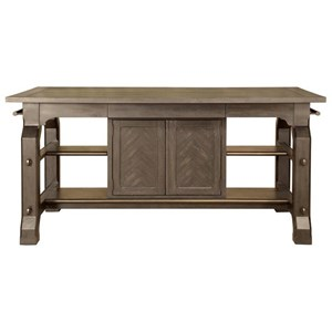 Rectangular Counter Table with Built-in Storage