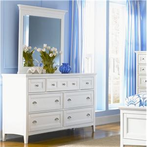 Magnussen Home Kentwood Double Dresser and Landscape Mirror