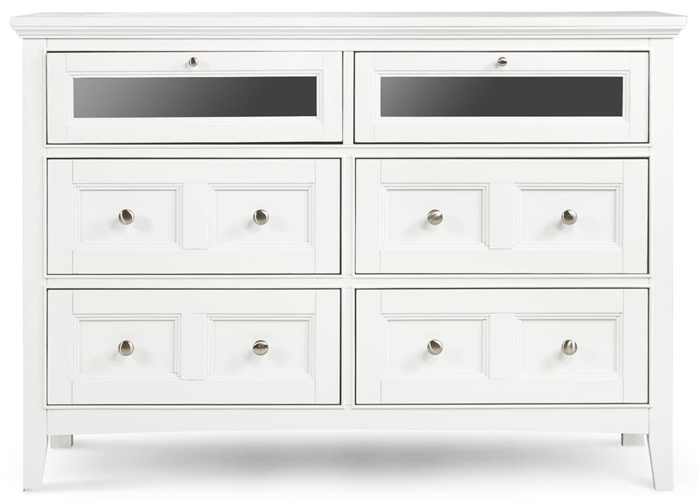 Media Chest With 4 Drawers and 2 Drawers With Drop Down Glass Fronts