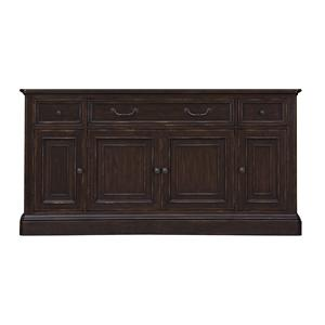 Traditional TV Console with Interchangeable Wood or Glass Doors