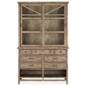 Rustic Server with Hutch and Dovetail Joinery