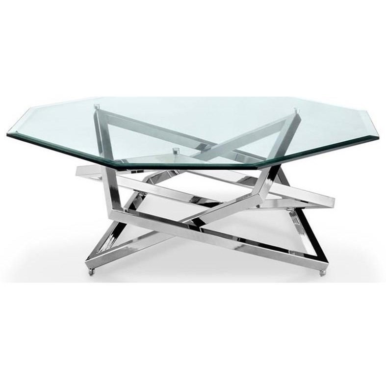 Contemporary Octagonal Cocktail Table