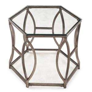 Magnussen Home Nevelson Hexagonal End Table