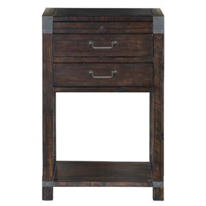 2 Drawer Open Nightstand with Touch Lighting