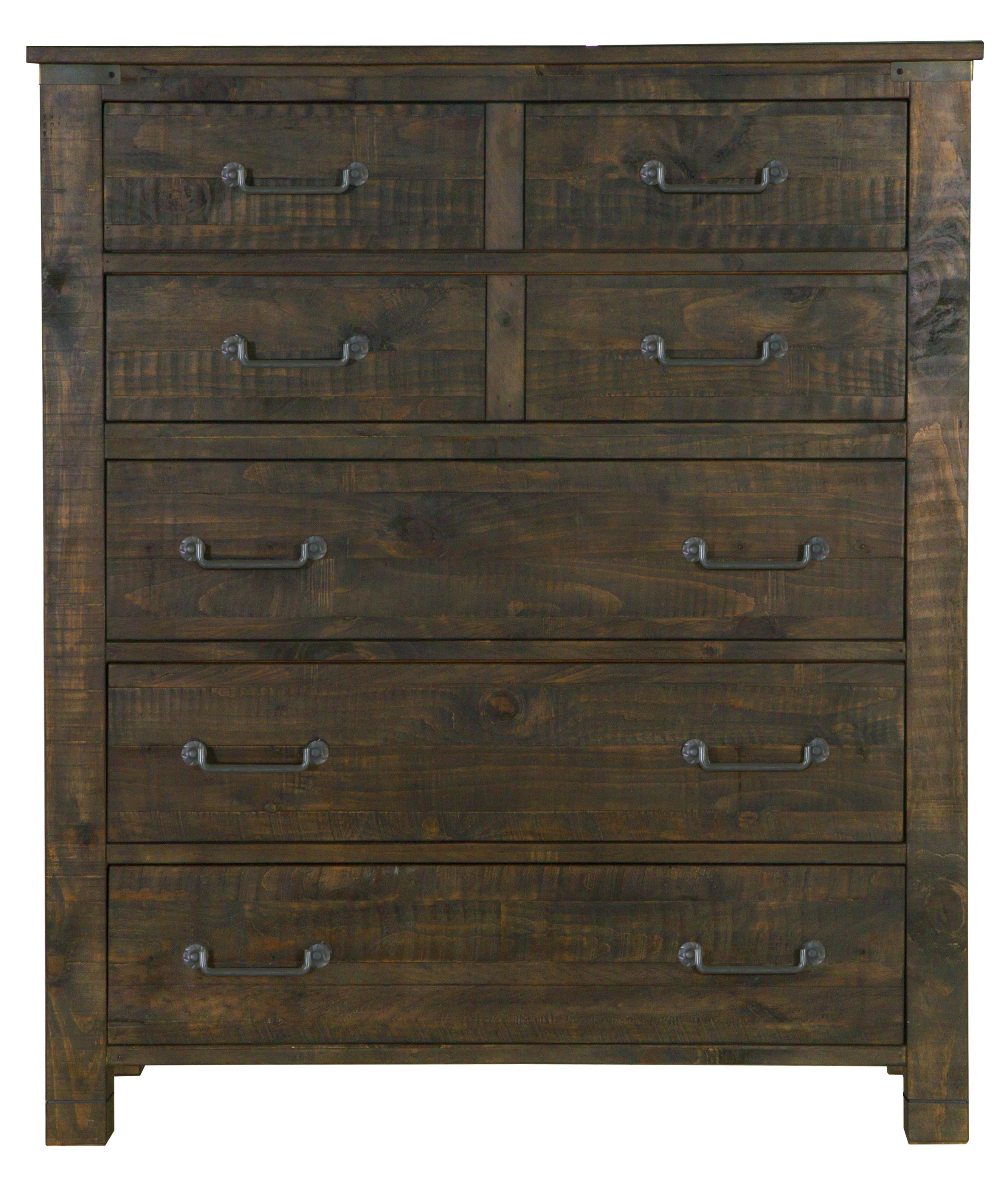 Five Drawer Chest in Rustic Pine Finish