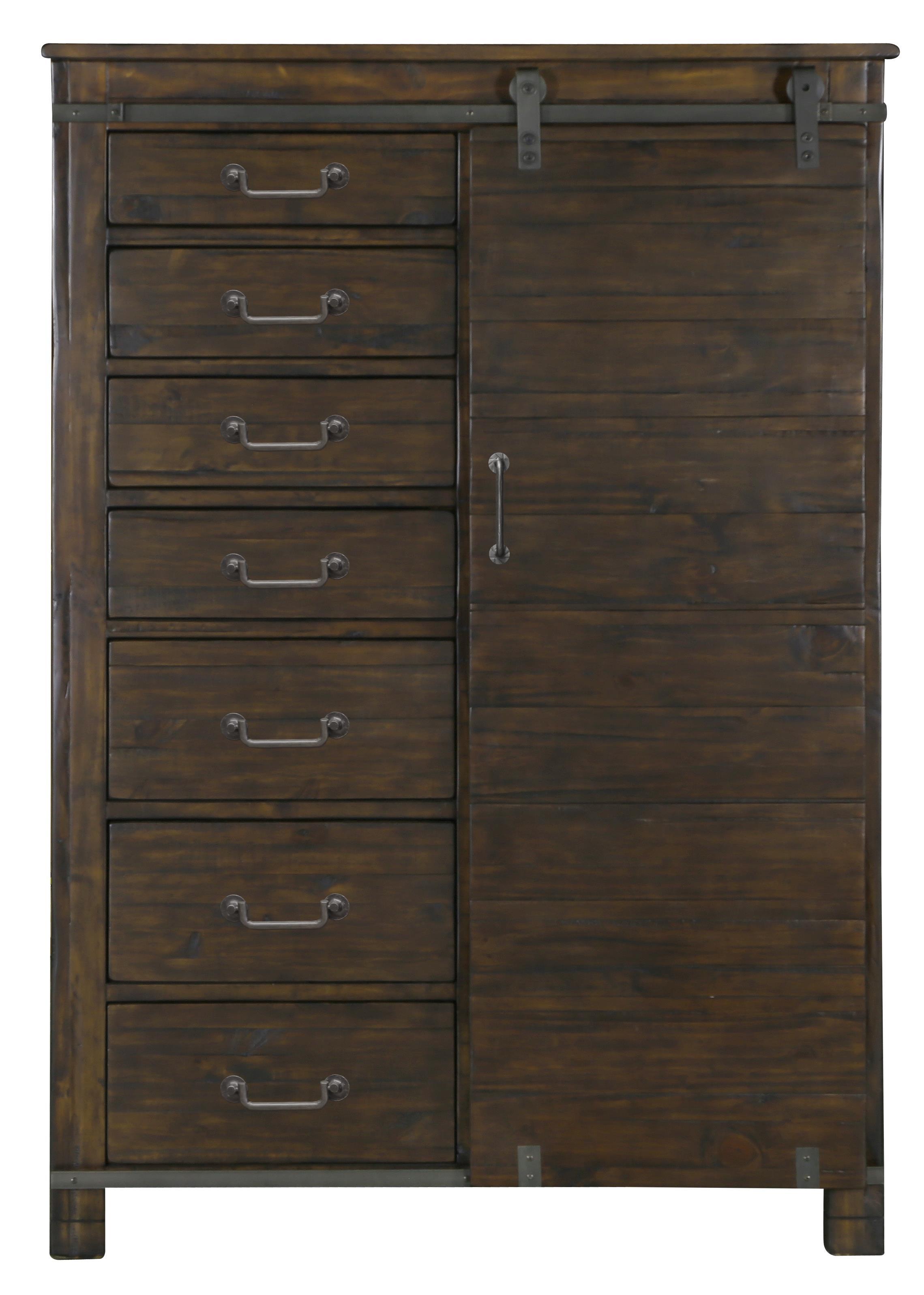 Door Chest with 4 Adjustable Shelves