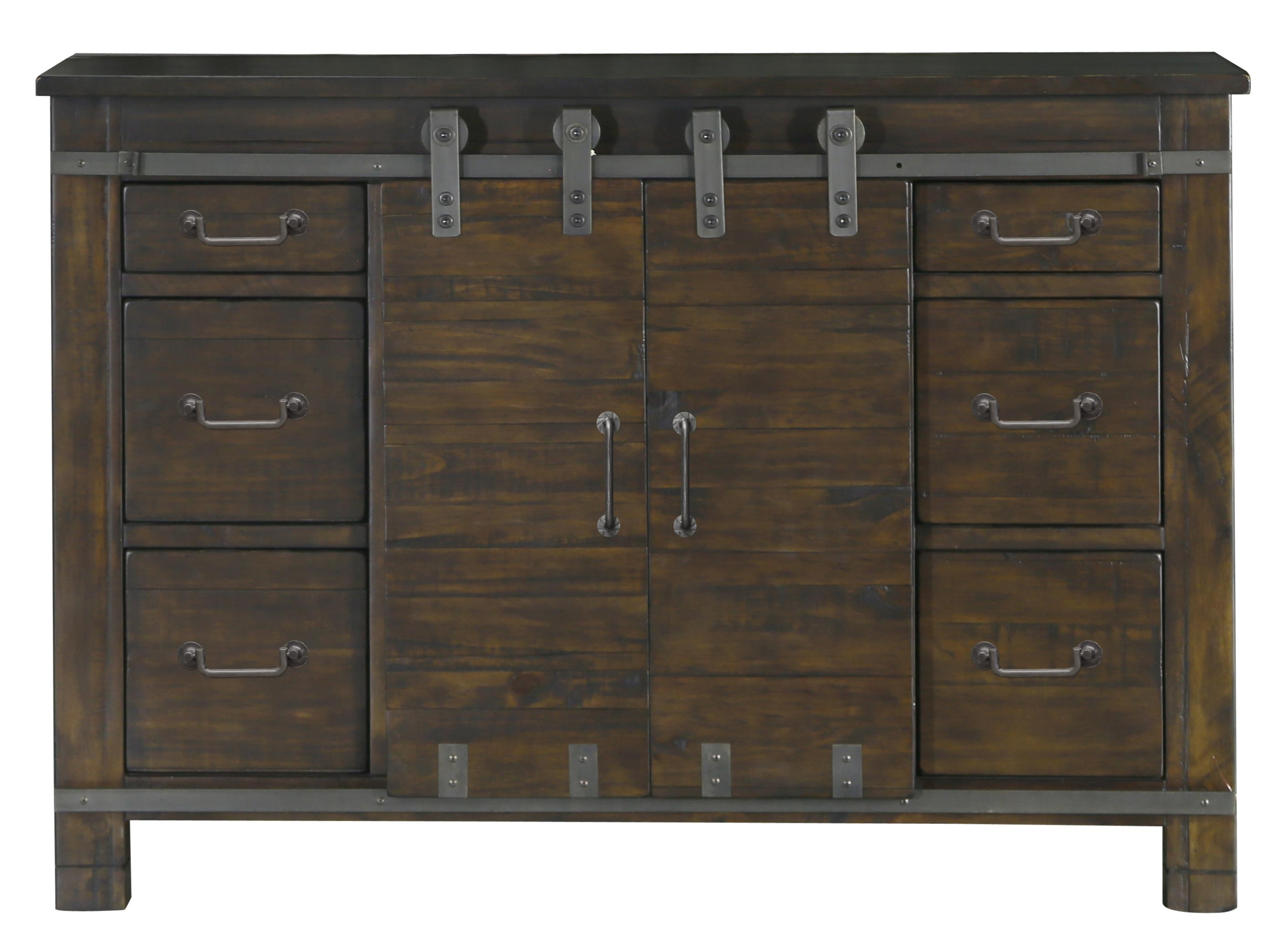 Six Drawer Media Chest with Wire Management
