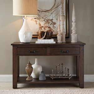 Rectangular Sofa Table with 2 Drawers