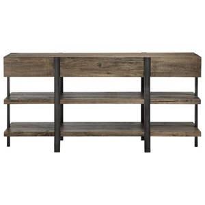 Industrial Console with Open Shelves