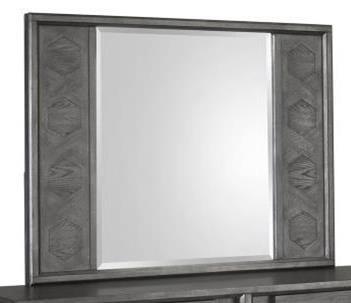 Modern Landscape Mirror with Lattice Design