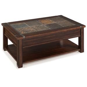 Magnussen Home Roanoke Rectangular Lift Top Cocktail Table (w/cas