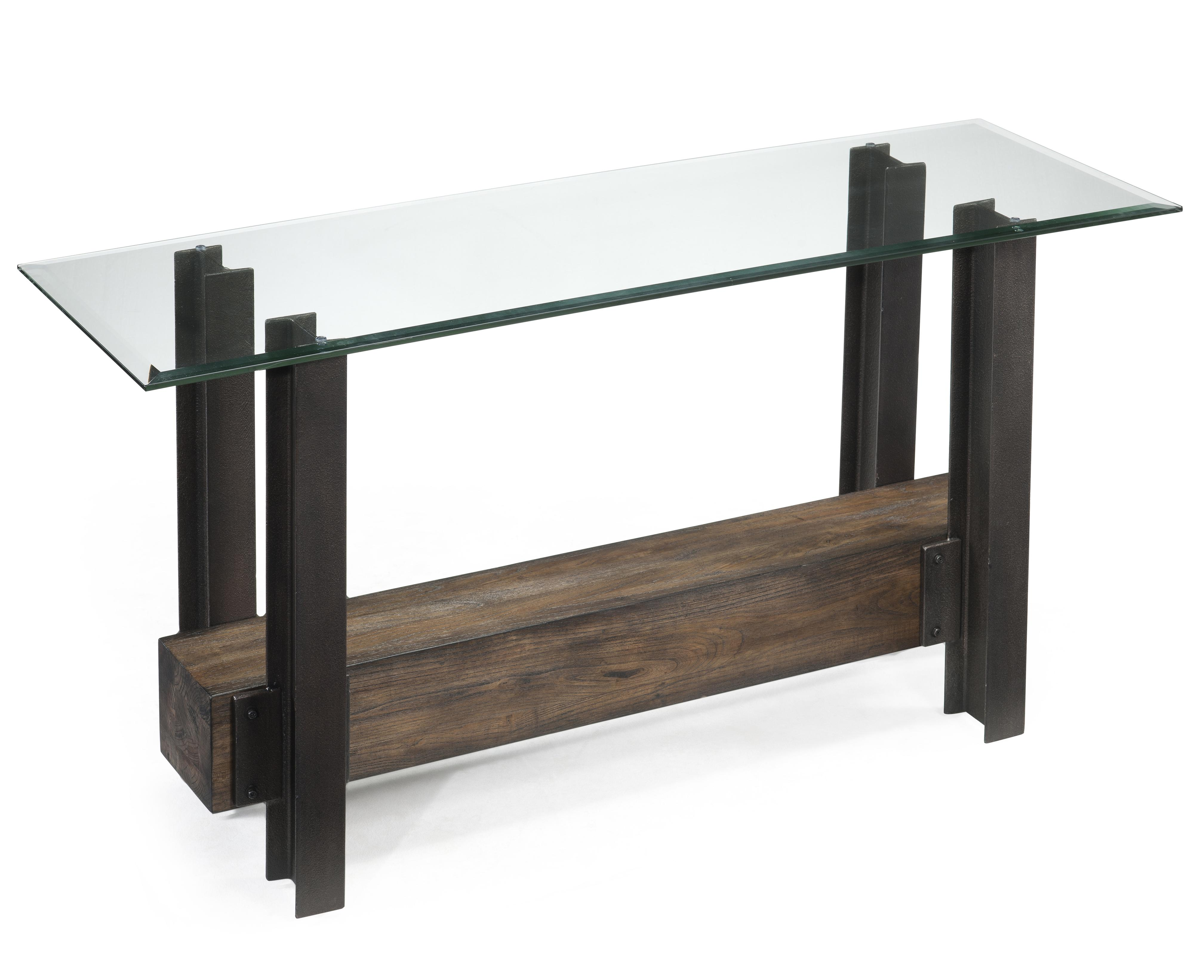 Glass Tables For Sale Part - 48: Rustic Glass Top Rectangular Sofa Table