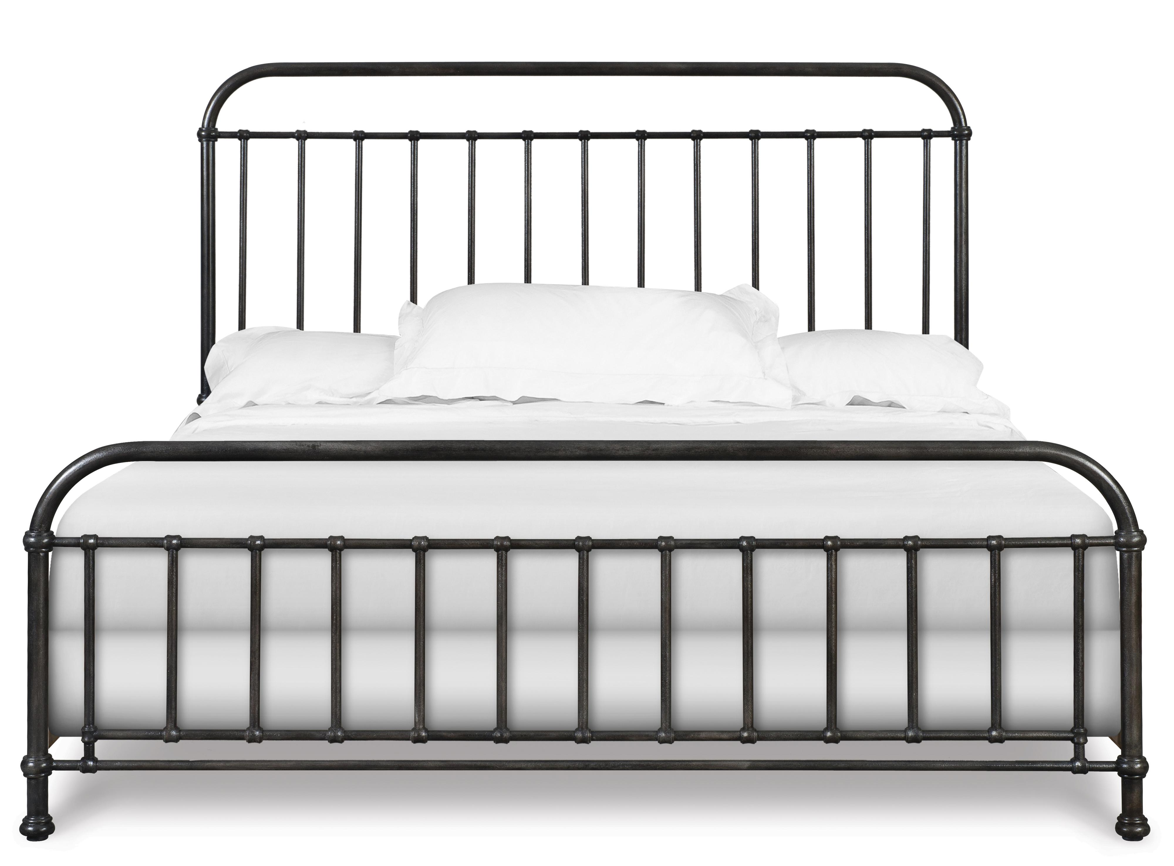 industrial revival style queen size metal bed