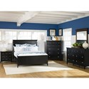 Complete King Panel Bed with Storage