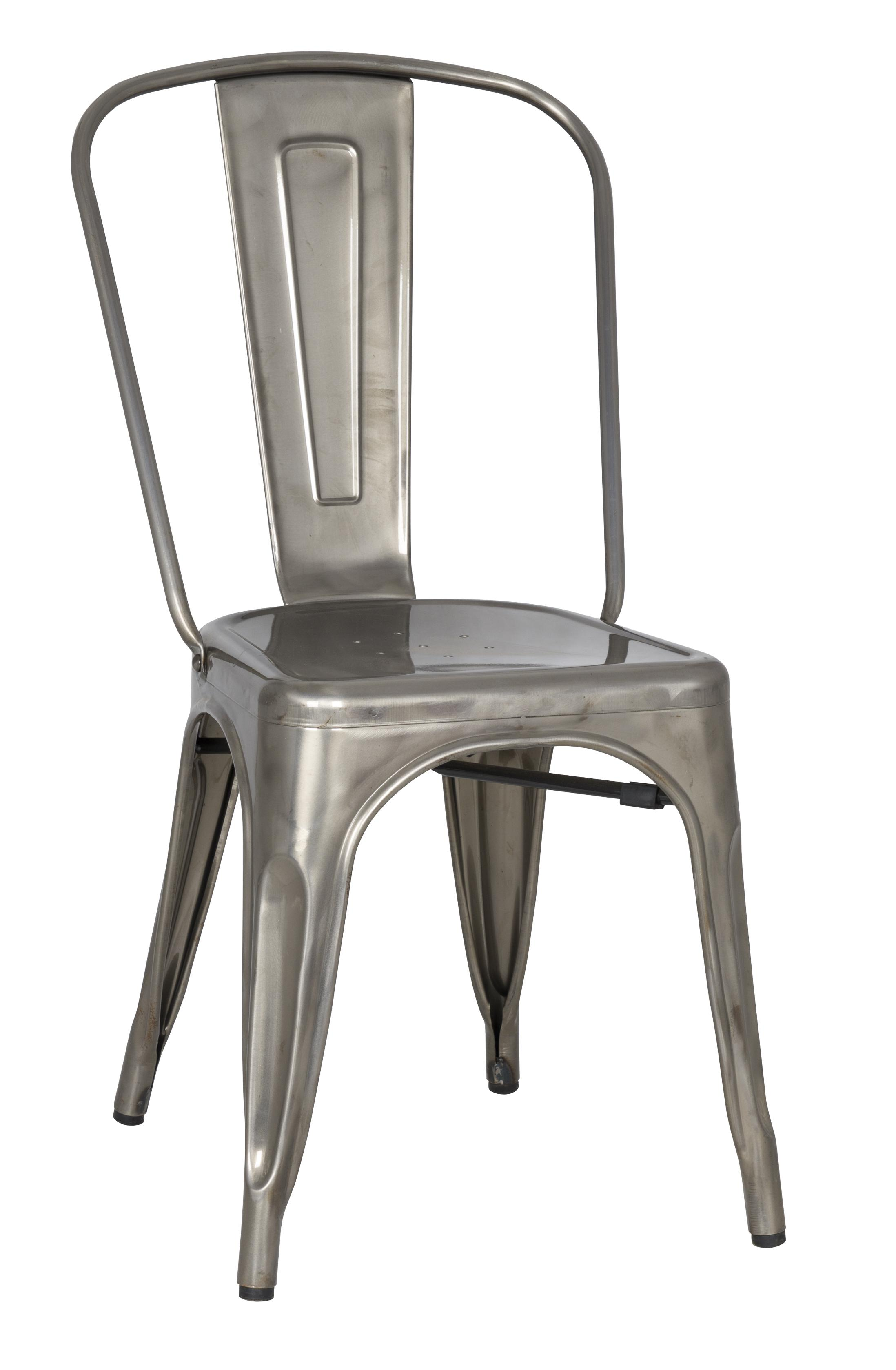 Vintage metal dining chair by magnussen home wolf and for Restaurant furniture